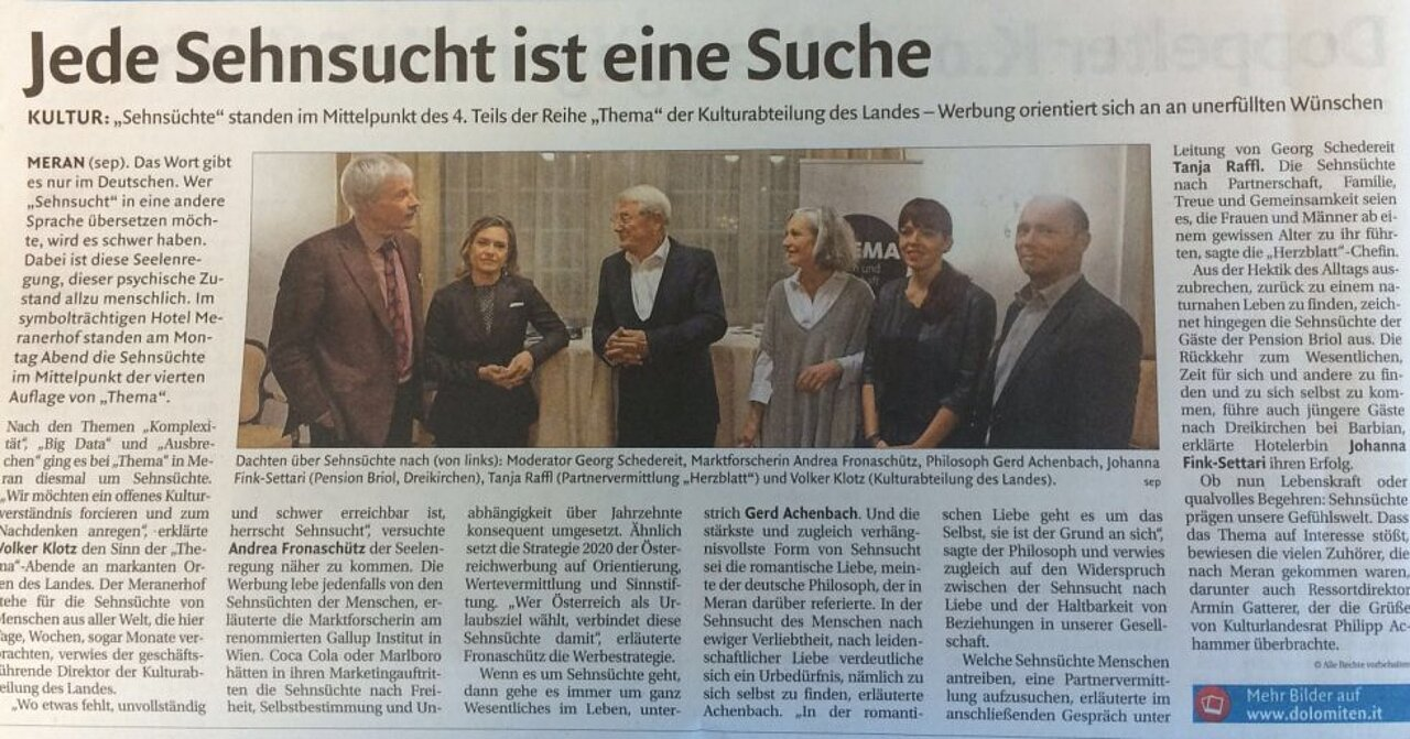 Partnervermittlung herzblatt sudtirol